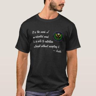 Camiseta T-shirt educado agnóstico da mente de Alliance