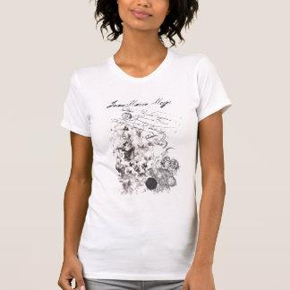 Camiseta t-shirt efeito usado barroco virgem e anjos