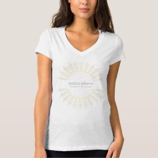 Camiseta T-shirt elegante do Sunburst do ouro da beleza