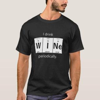 Camiseta T-shirt elementar da química do vinho