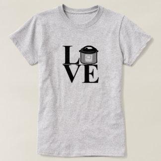 Camiseta T-shirt elétrico do AMOR do fogão de pressão