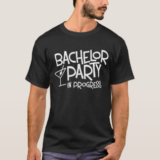 Camiseta T-shirt em andamento do despedida de solteiro