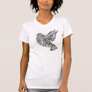 Camiseta T-shirt encaracolado do pássaro