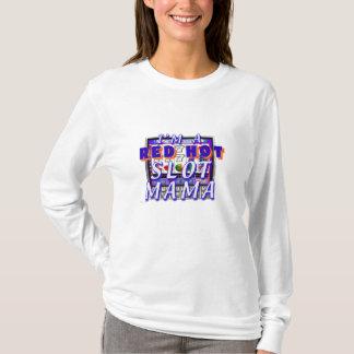 Camiseta T-shirt encarnado do entalhe do Mama Senhora