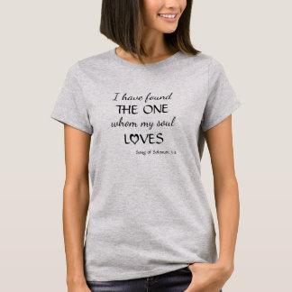 Camiseta T-shirt encontrado amor do verso da bíblia