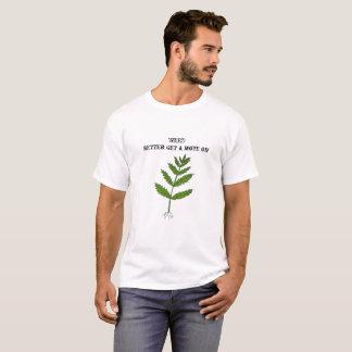 Camiseta T-shirt engraçado da erva daninha para homens