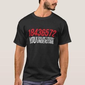 Camiseta T-shirt engraçado da ordem de acendimento de