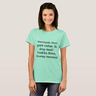 Camiseta T-shirt engraçado da sereia