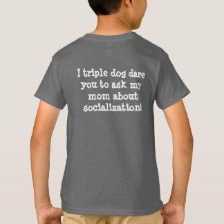 Camiseta T-shirt engraçado da socialização de Homeschool