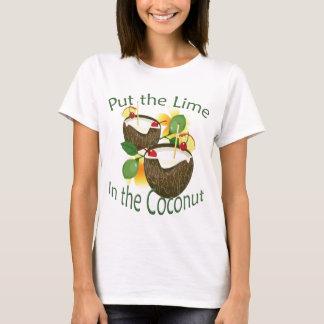 Camiseta T-shirt engraçado das senhoras do partido do limão