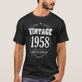 Camiseta T-shirt engraçado do aniversário do vintage 1958