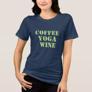 Camiseta t-shirt engraçado do bebedor do café do vinho da