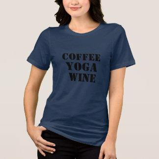 Camiseta t-shirt engraçado do bebedor do café do vinho do