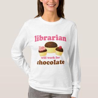 Camiseta T-shirt engraçado do bibliotecário