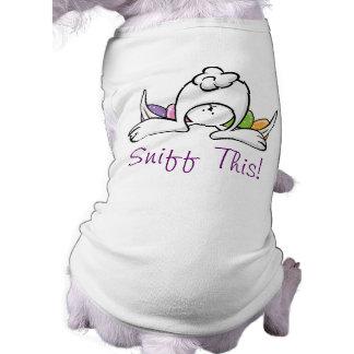 Camiseta T-shirt engraçado do cão do coelhinho da Páscoa