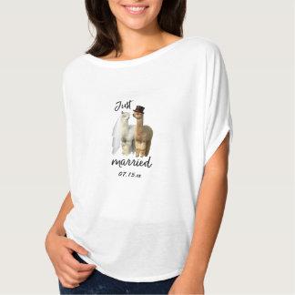 Camiseta T-shirt engraçado do casamento dos noivos da