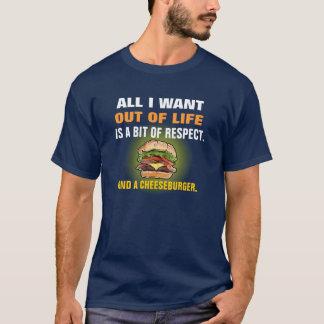 Camiseta T-shirt engraçado do cheeseburger