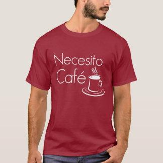 Camiseta T-shirt engraçado do espanhol dos amantes do café