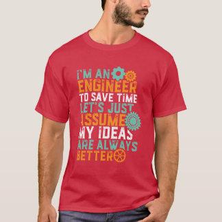 Camiseta T-shirt engraçado do humor da engenharia eu sou um