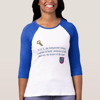 Camiseta T-shirt engraçado do motorista designado