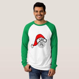 Camiseta T-shirt engraçado do Natal da farsa de Bah
