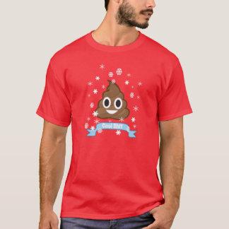 Camiseta T-shirt engraçado do Natal de Emoji do tombadilho