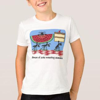 Camiseta T-shirt engraçado do piquenique