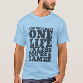 Camiseta T-shirt engraçado dos Gamers para nerd do video