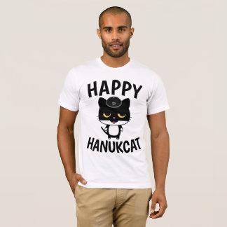 Camiseta T-shirt engraçados do CAT de Hanukkah