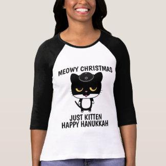 Camiseta T-shirt engraçados do CAT para Hanukkah