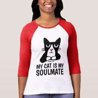 Camiseta T-shirt engraçados do gato do gatinho da panda,