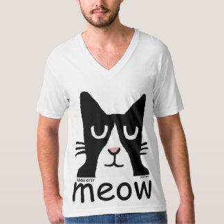 Camiseta T-shirt engraçados do gato, gatinho da panda, MEOW