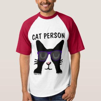Camiseta T-shirt engraçados do gato, PESSOA do CAT, gatinho