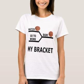 Camiseta T-shirt engraçados do suporte do basquetebol da
