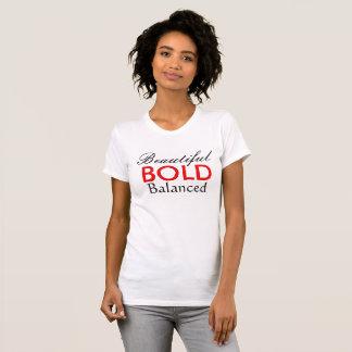 Camiseta T-shirt equilibrado bonito corajoso
