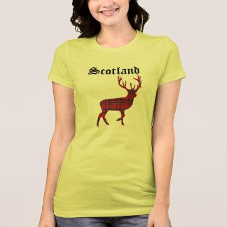 Camiseta T-shirt escocês do veado das montanhas do Tartan