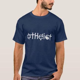 Camiseta T-shirt escuro ateu