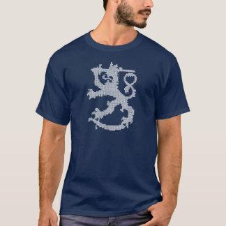 Camiseta T-shirt escuro básico do leão branco de Sisu