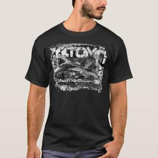 Camiseta T-shirt escuro básico do t-shirt dos homens de