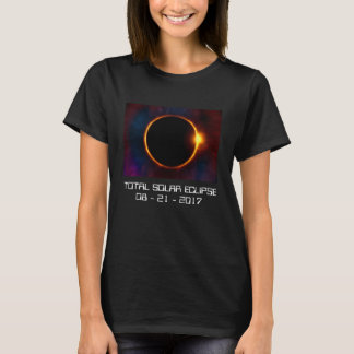 Camiseta T-shirt escuro do eclipse 2017 solar