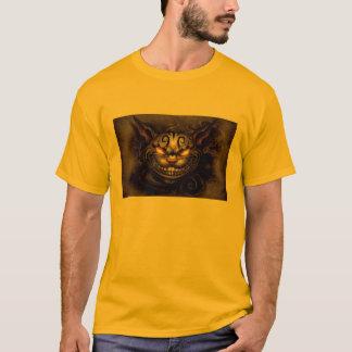 Camiseta T-shirt escuro do gato de Cheshire