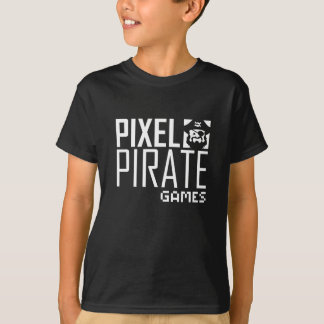 Camiseta T-shirt escuro dos miúdos - logotipo dos jogos do