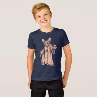 Camiseta T-shirt escuro mestre de Sphynx para miúdos