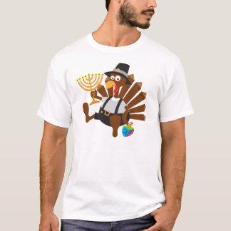 Camiseta t-shirt especial do unieque do thanksgivukkah