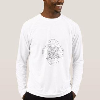Camiseta t-shirt espelhado do círculo