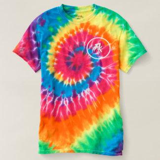 Camiseta T-shirt espiral da Laço-Tintura dos homens,