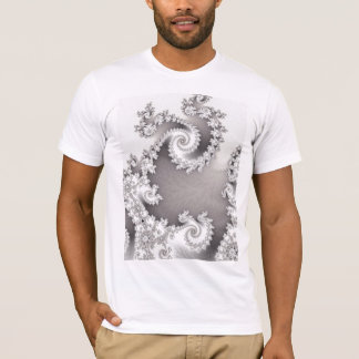 Camiseta T-shirt espiral dobro de prata
