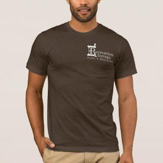 Camiseta T-shirt esquerdo branco da terapia da recreação do
