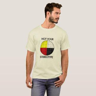 Camiseta T-shirt estereótipo dos homens não seu (luz)
