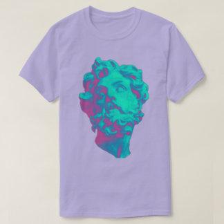 Camiseta T-shirt estético dos homens da estátua do pulso
